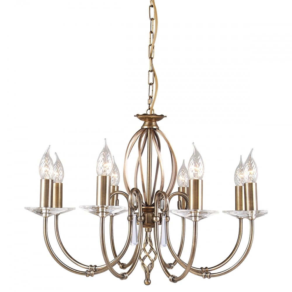 Elstead Artisan 5 Light Chandelier Aged Brass