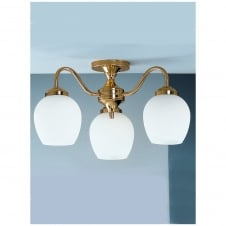 Alba Polished Brass 3 Light Ceiling Downlight