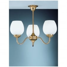Alba Polished Brass 3 Light Ceiling Uplight