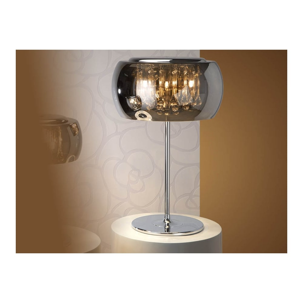 Lovely Argos Smoked Oval Glass Dome Table Lamp