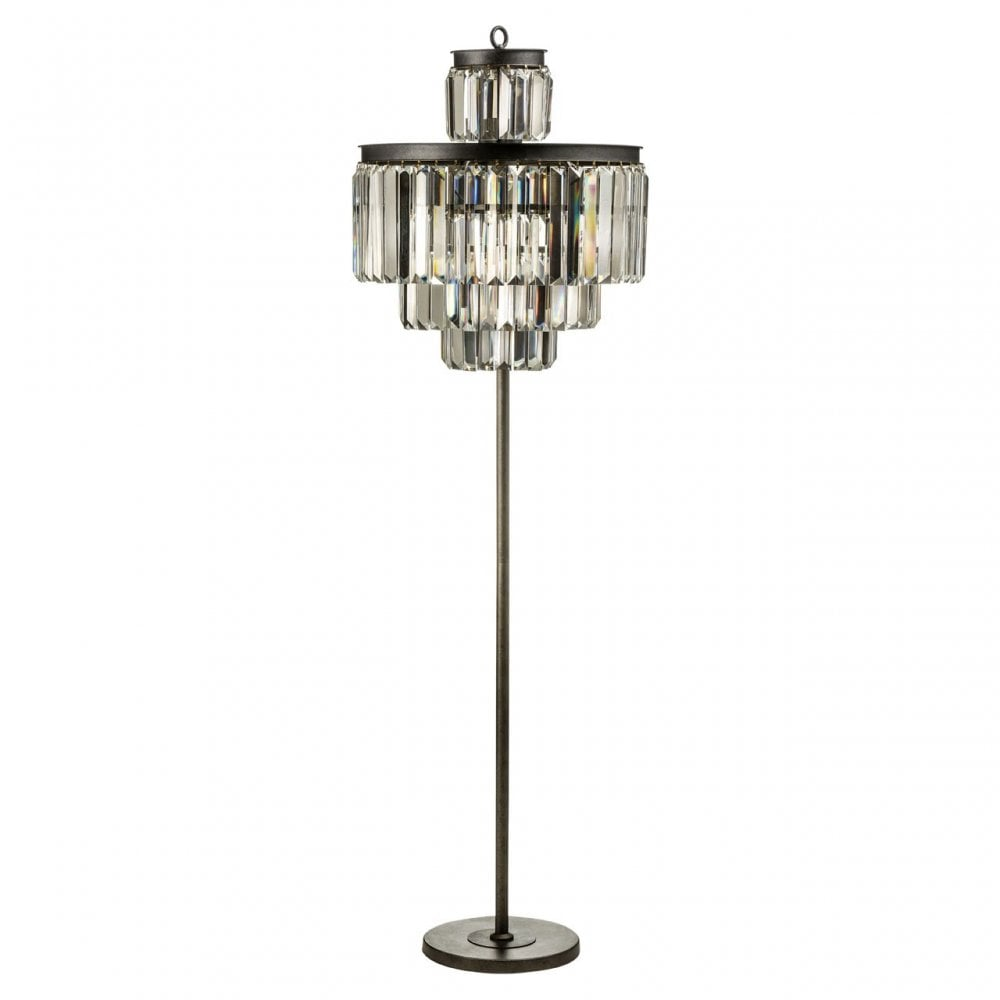 Art Deco Floor Lamp Crystal