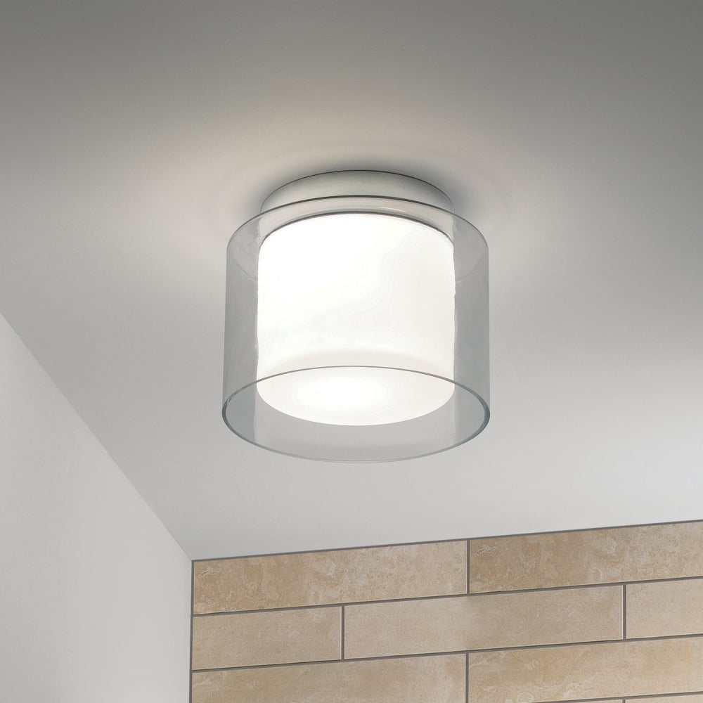 Astro 1049003 Arezzo Clear And Frosted Glass Ceiling Drum Light Ideas4lighting Sku34665i4l