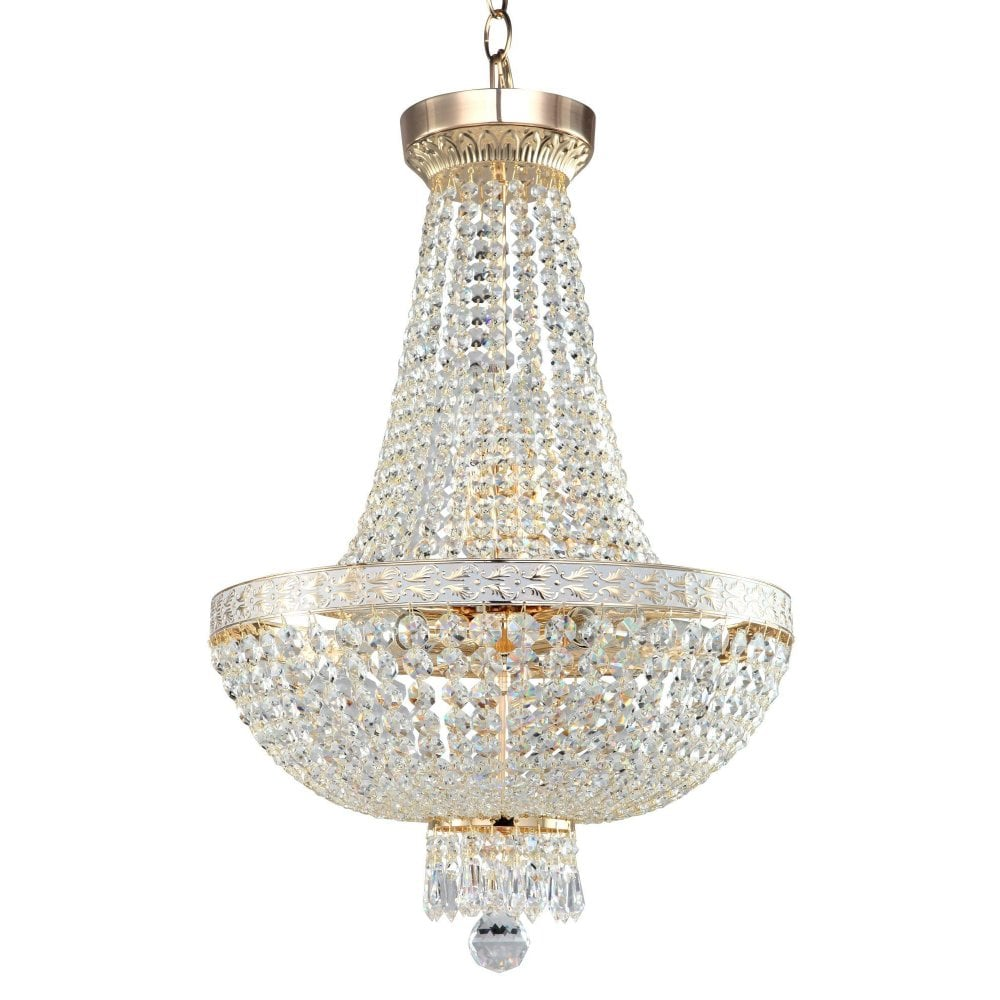 Buy Fabric small european crystal chandelier candle lamp