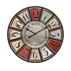 Bless this Home Wall Clock