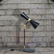 Cairo Table Lamp Powder Coated with Brass