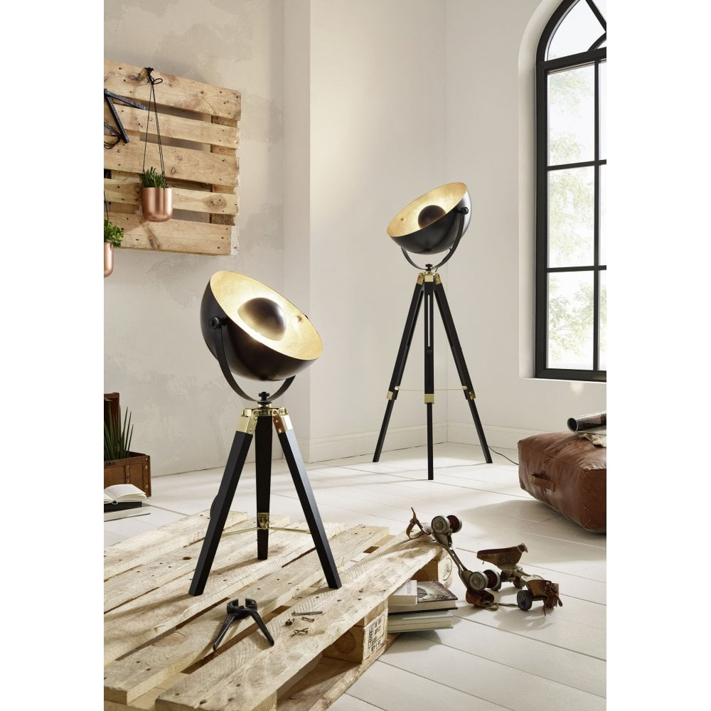 Dining room floor lamps: Tripod floor