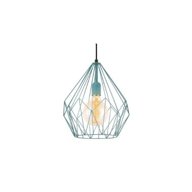 eglo sku22816 carlton mint wire geometric pendant light