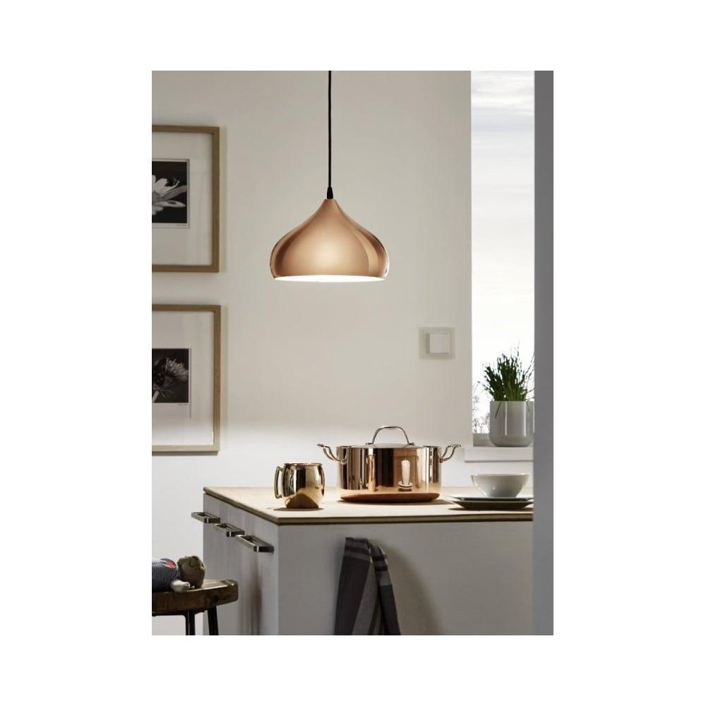 Stunning Copper Kitchen Ceiling Light Pendant