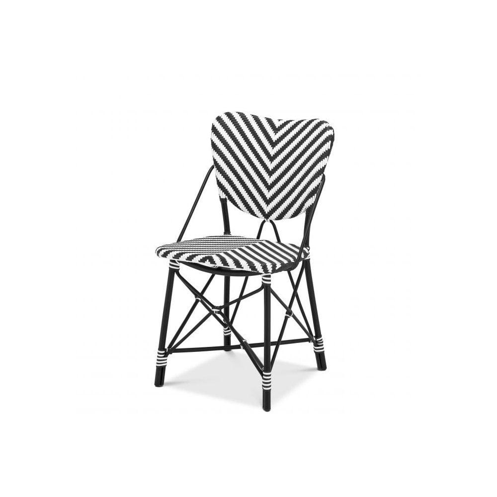Eicholtz 110595 Chair Colony Rattan Black And White Ideas4lighting