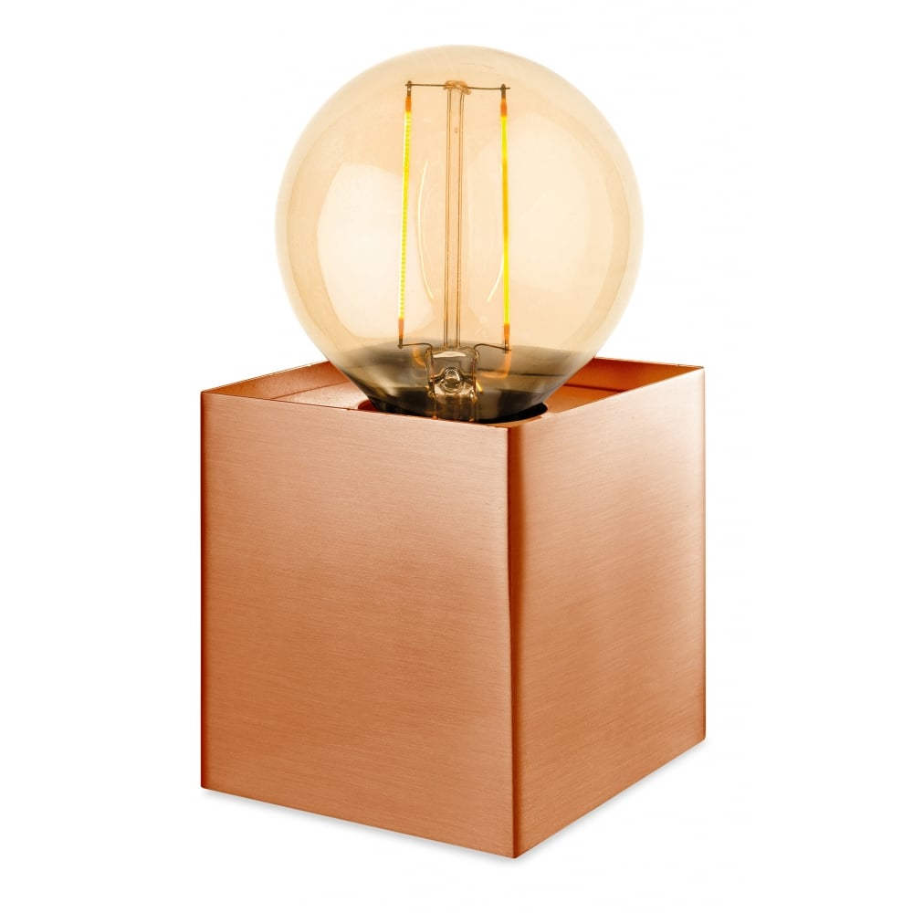 Firstlight Expose Vintage Retro Copper Bedside Table Lamp