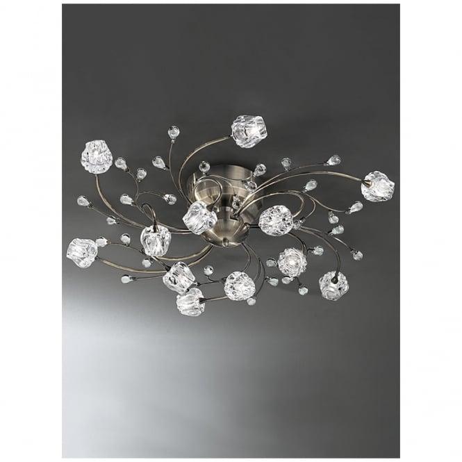Hinkley Lighting Odette: Franklite FL2169/12 Podette Bronze 12 Light Flush Ceiling