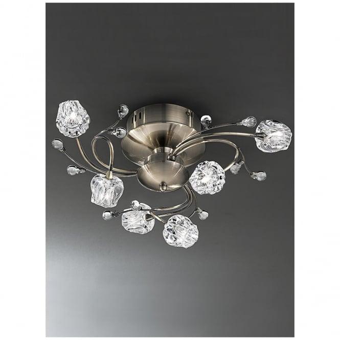 Hinkley Lighting Odette: Franklite FL2169/6 Podette Bronze 6 Light Flush Ceiling