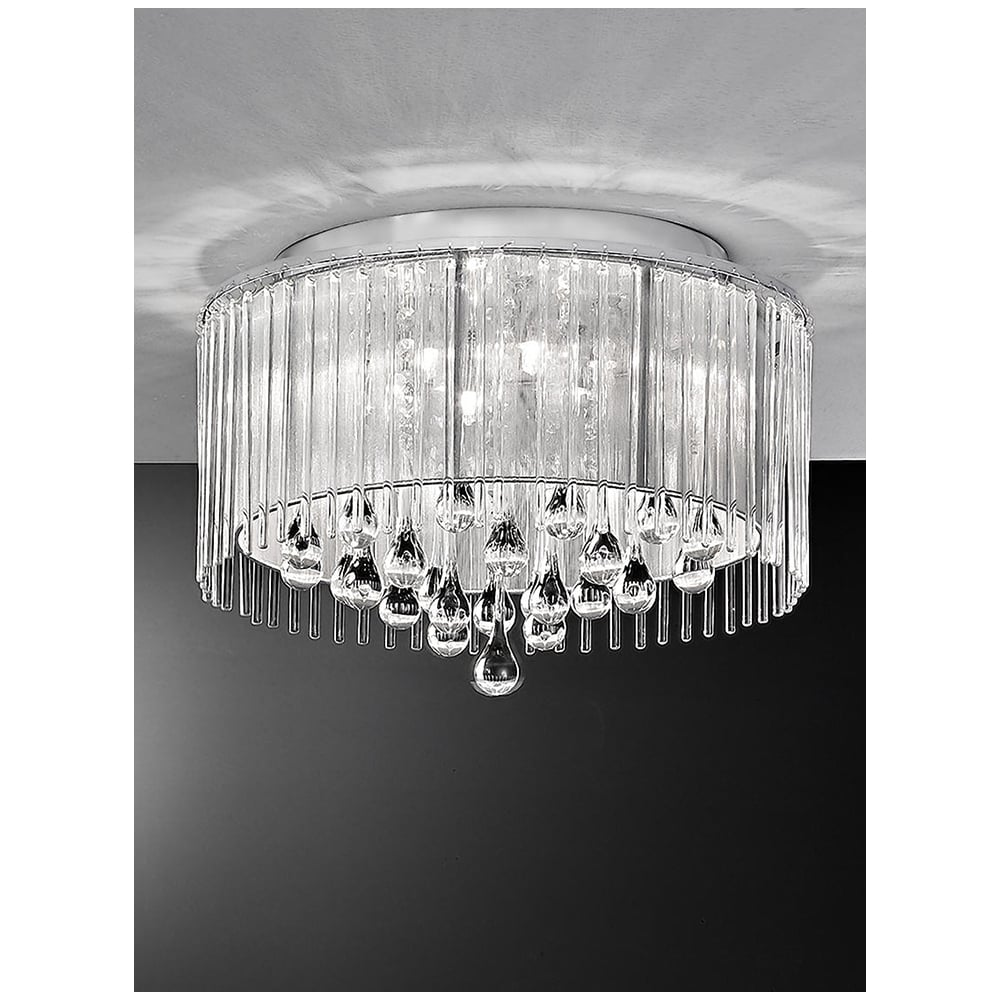 Modern Chandelier Lighting Crystal Ceiling Light Candle