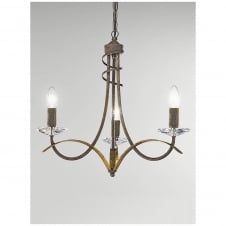 Fusion Antique Gold 3 Light Ceiling Fitting