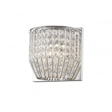Carlo Stylish Crystal Wall Light In Chrome Finish CFH50