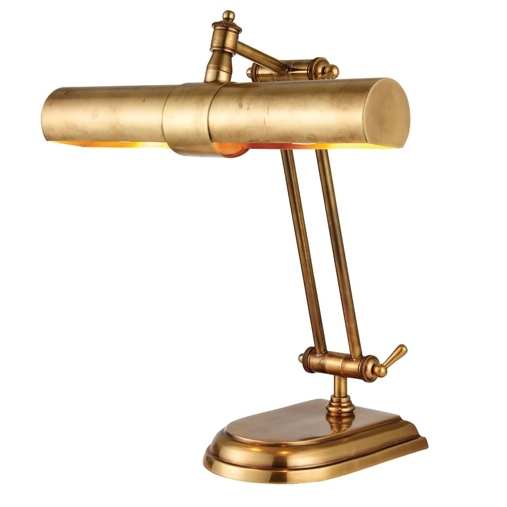 Interiors 1900 Winchester 2 Light Solid Brass Table Lamp In Mell