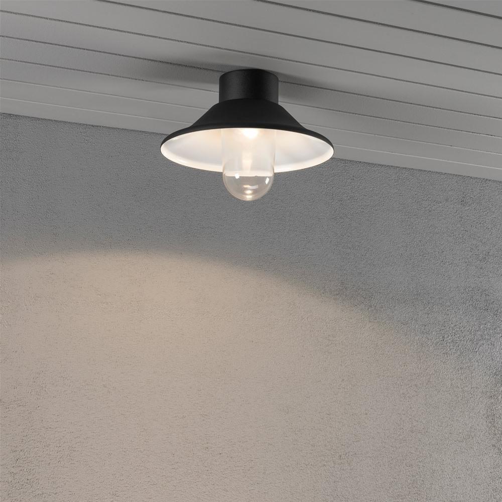 Vega Black Led Porch Ceiling Light Ideas4lighting Sku27129i4l