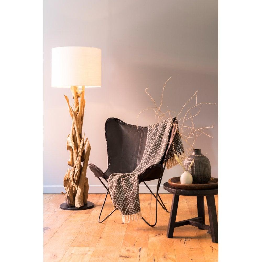 Floor Lamp 35x133 Cm Vidin Wood