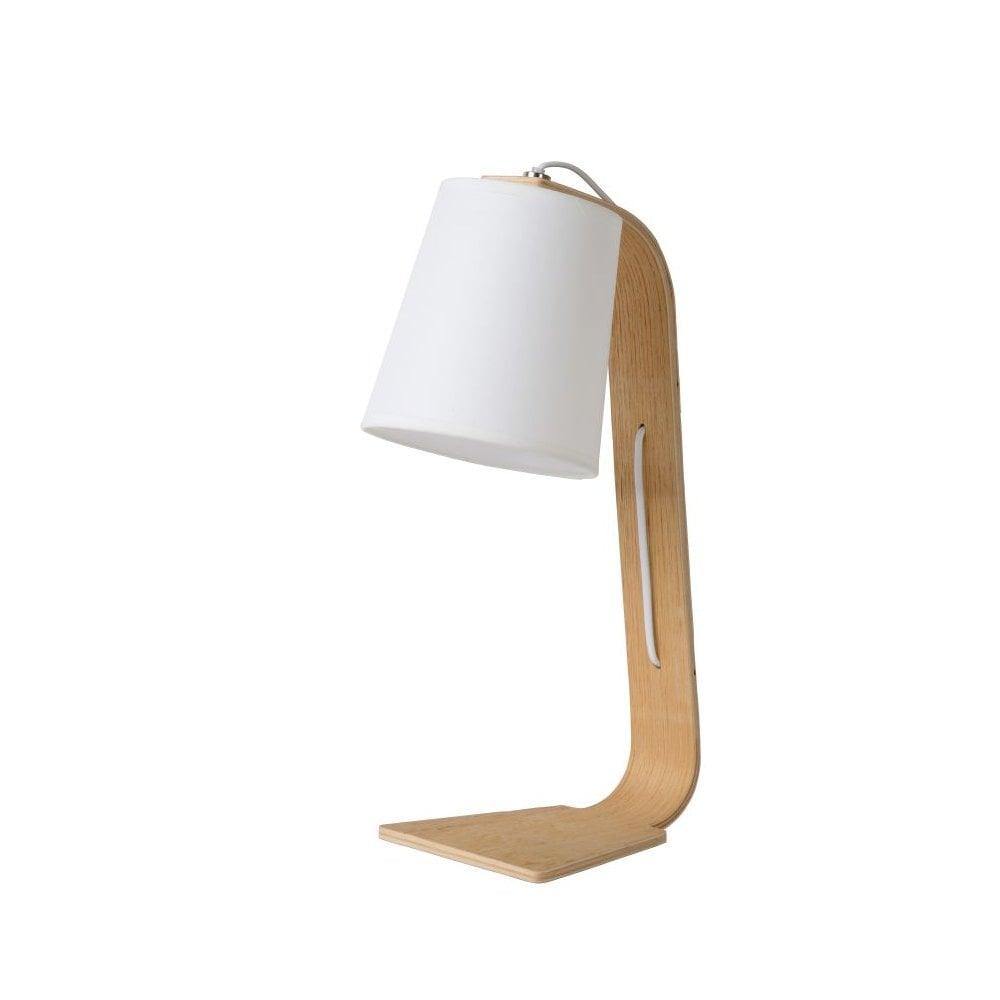 Scandi Inspired Table Lamp Wood Grey