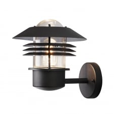Modena Black Up Wall Light