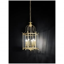 Montpelier Polished Brass 6 Light Ceiling Lantern