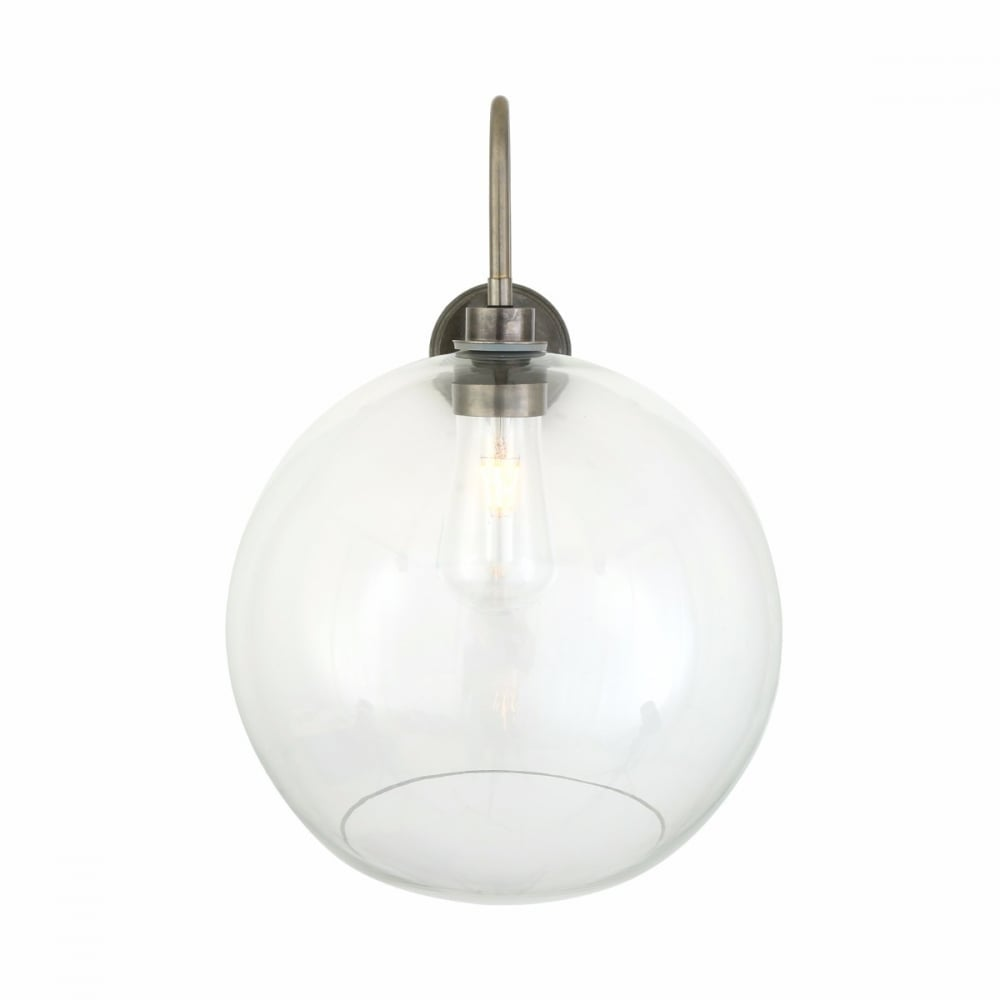 Mullan Mlbwl056pcwte Leith Glass Ball Outdoor Wall Light Glass Globe Shade Ideas4lighting Sku31778i4l