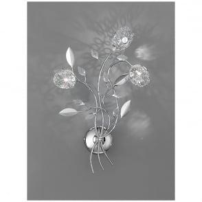 Shimmer Crystal Glass Flower Floor Lamp