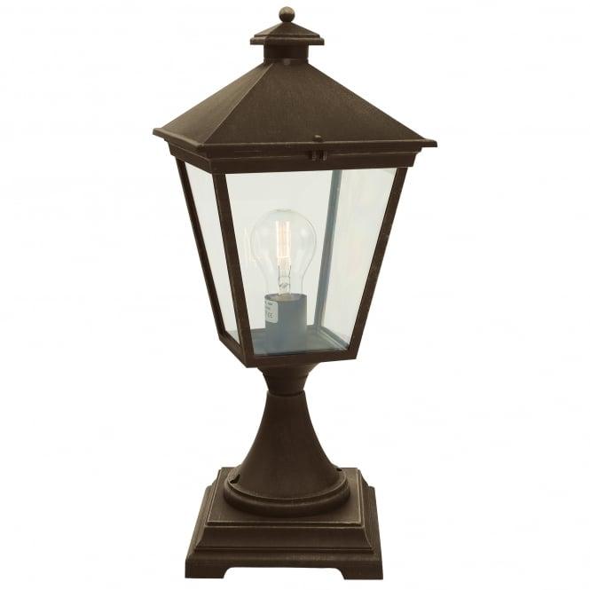 Buy Turin Outdoor Pedestal Lanterns By Norlys: Turin Pedestal Black/Gold
