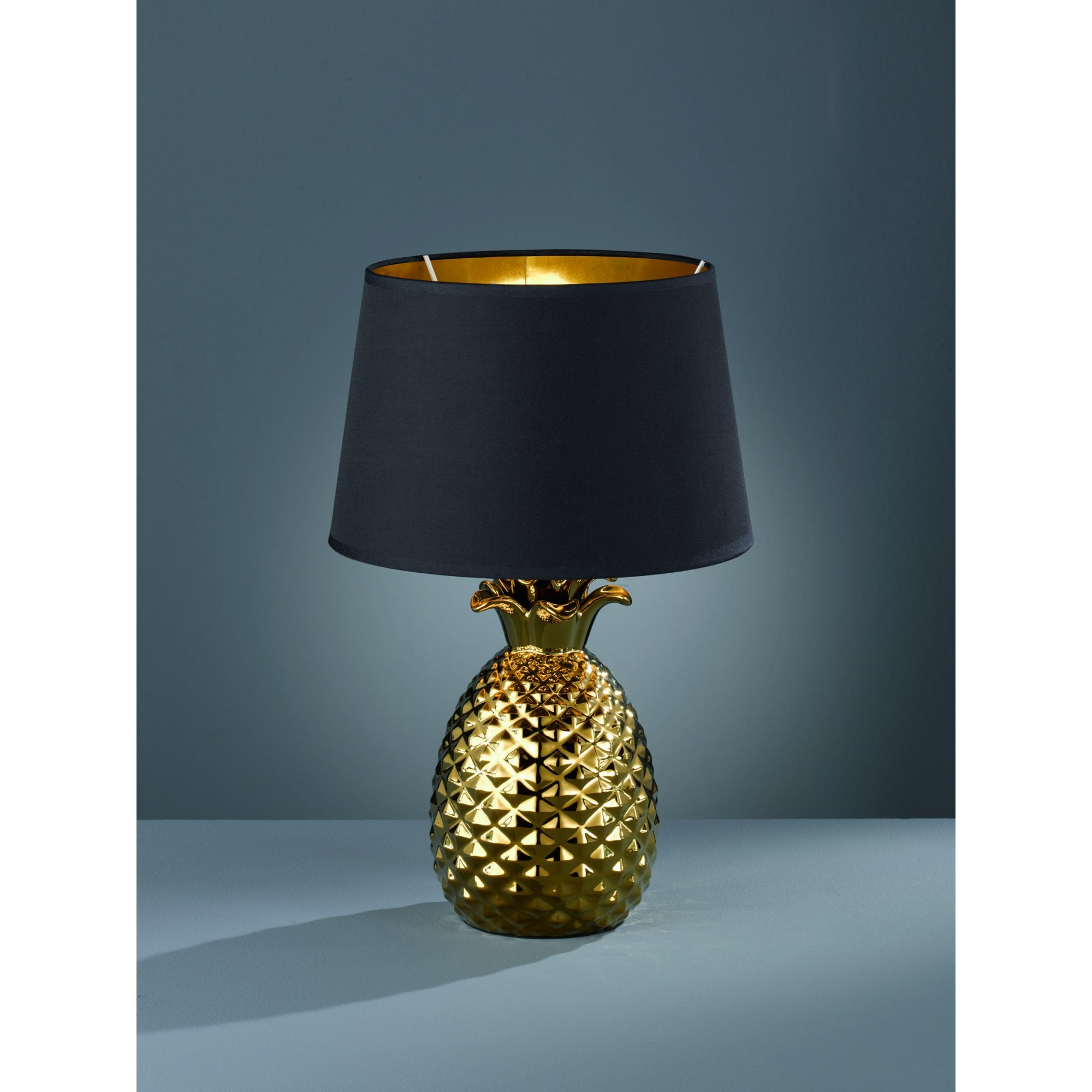 Gold Pineapple Table Lamp with Black
