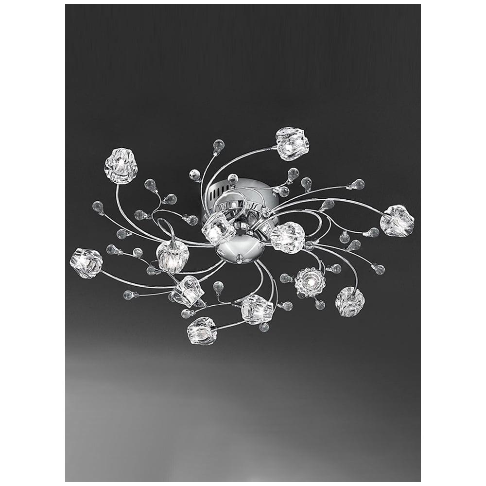 Hinkley Lighting Odette: Franklite Podette Crystal Rose Bud Ceiling Light