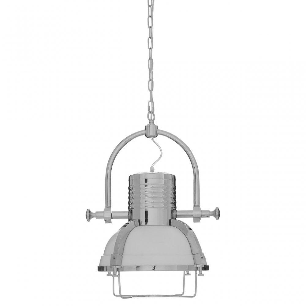 Premier Lighting Industrial Revolution Pendant Light Metal Silver Shop By Type From Ideas4lighting Uk