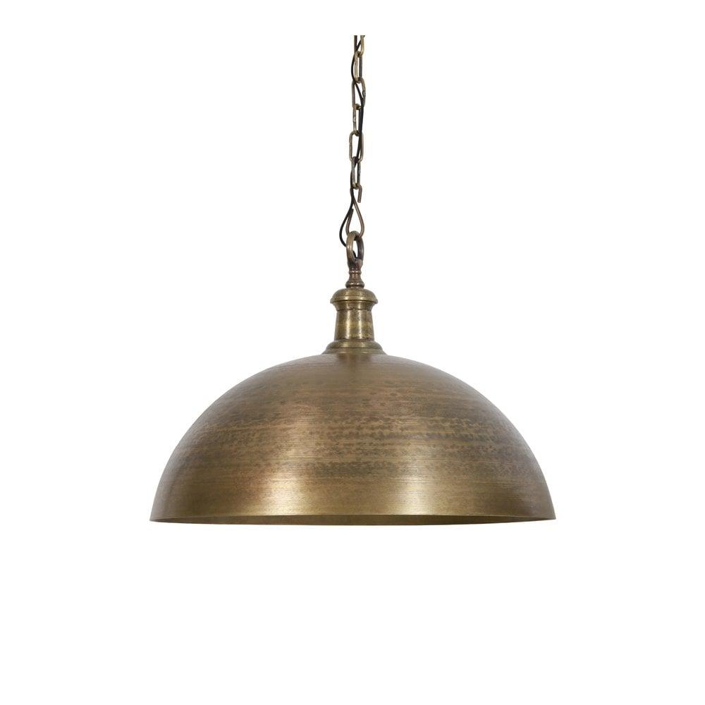 Vintage Hanging Ceiling Light Chandelier Brass ? With Black