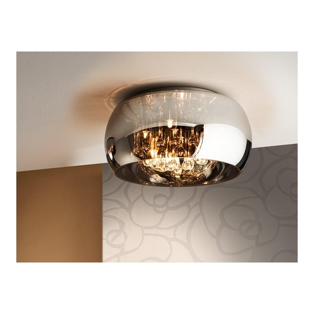 Schuller Argos Shimmered Oval Glass Shade Ceiling Light Ideas4lighting Com Sku20881i4l