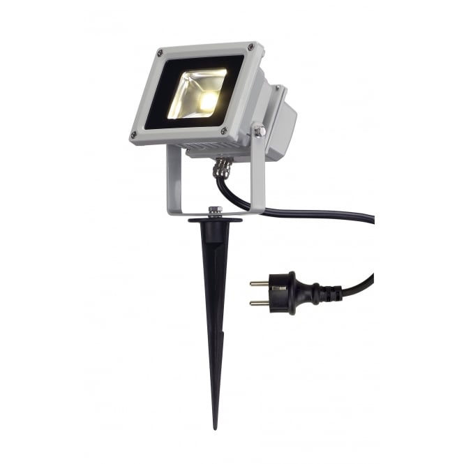 SLV Led Outdoor Beam, Silver-Grey,10W, 3500K, 100°, Ip65