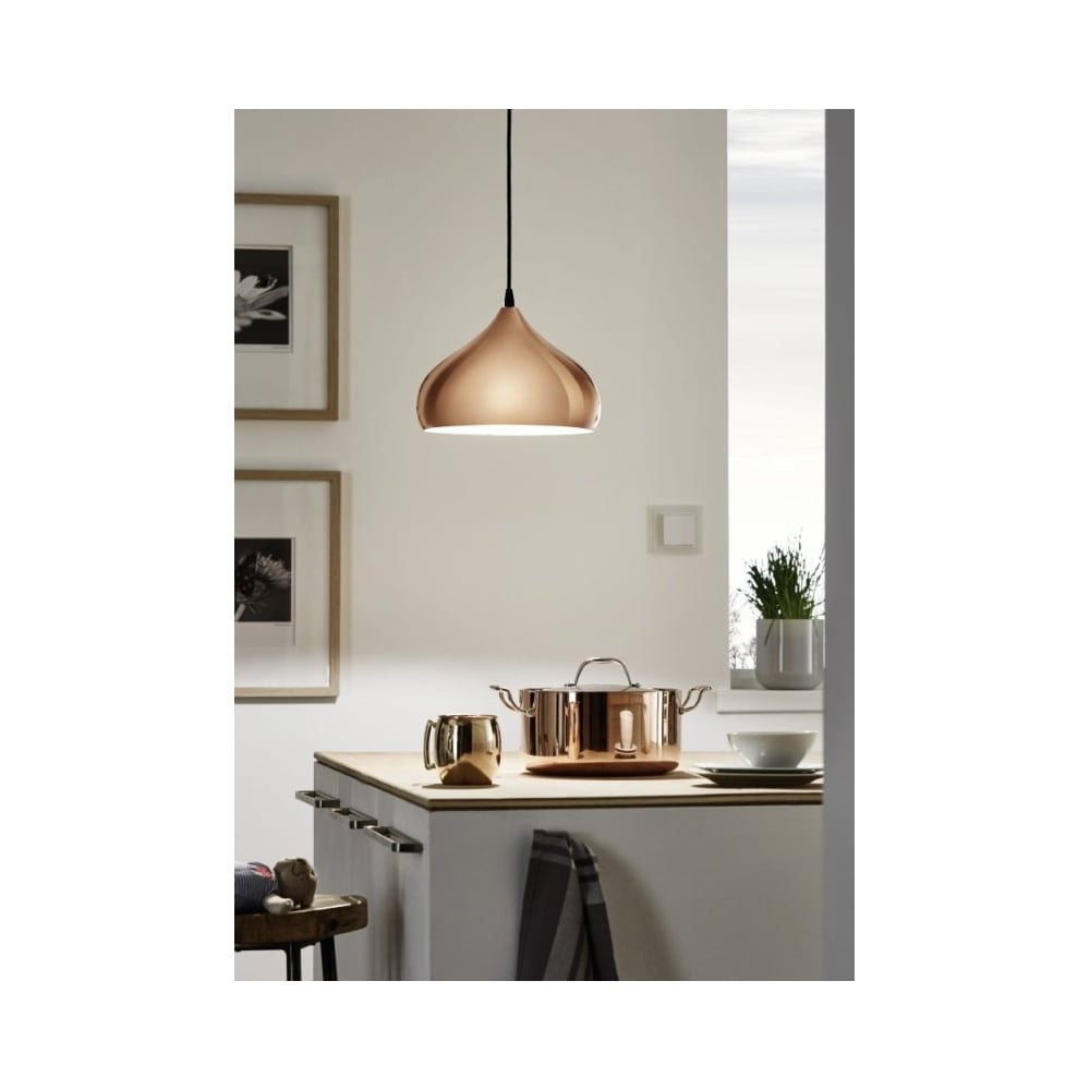 Eglo SKU22883 Stunning Copper Kitchen Ceiling Light