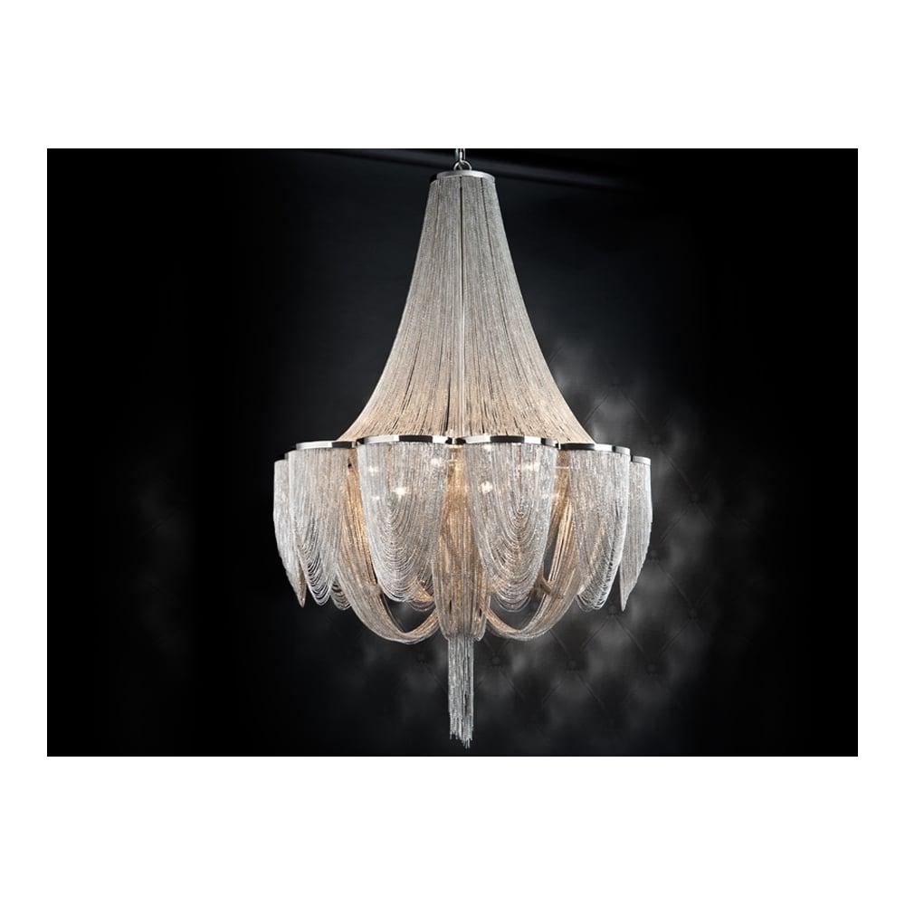 Stunning Super Modern Minerva Fine Chain 15 Bulb Chandelier