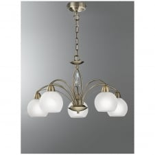 Thea Bronze 5 Light Crystal Ceiling Fitting