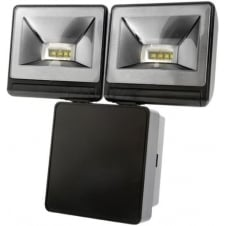 Powerful 2x8W LED Energy Saver Floodlight, Black