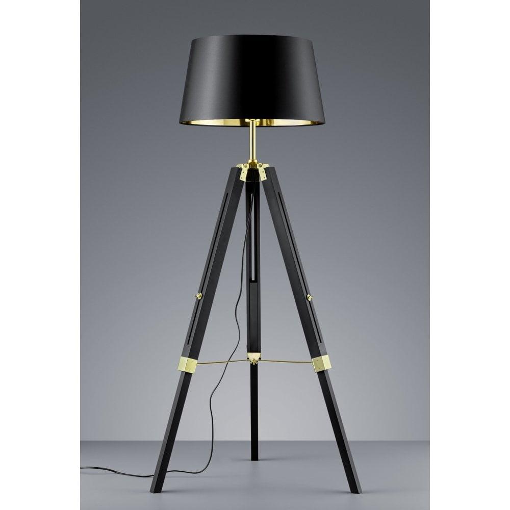 Modern Metal Tripod Table Lamp Black