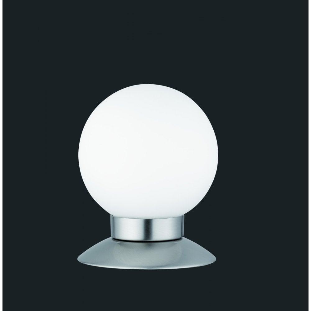 Hinkley Lighting Odette: Trio Princess Modern Nickel Matt Metal Table Lamp