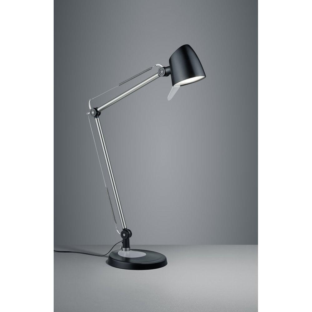 Hinkley Lighting Odette: Trio Rado Modern Black Matt Metal Table Lamp