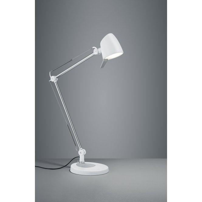 Hinkley Lighting Odette: Trio Rado Modern White Matt Metal Table Lamp
