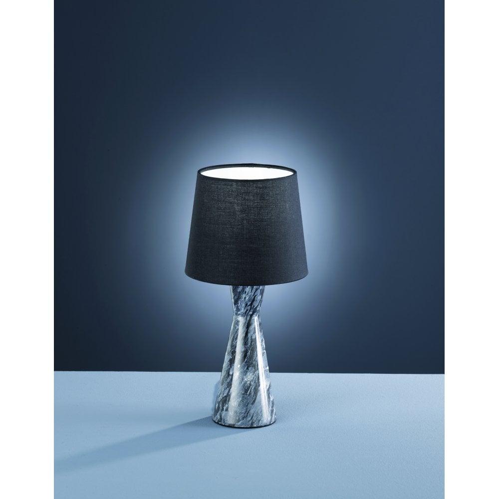 Trio Savannah Modern Black Marble Table Lamp Ideas4lighting
