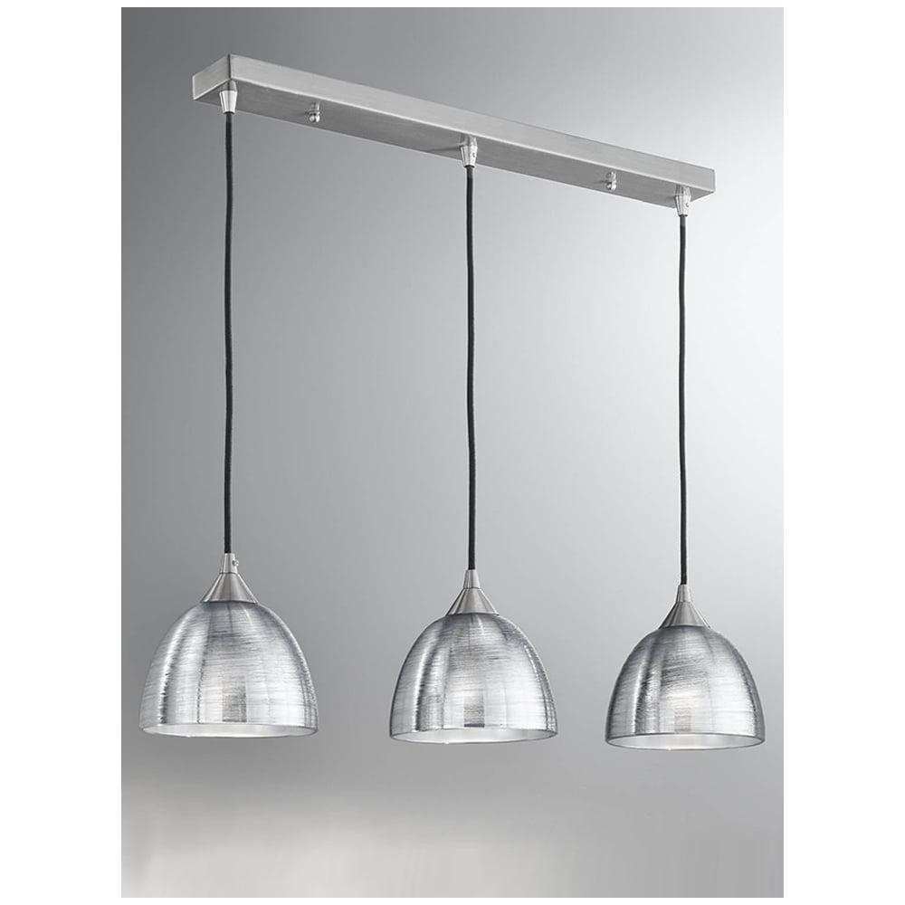 Fish Line Chandelier 3 Light Mini Pendant Glass Shade Dining Room White For Sale Metal Art Deco