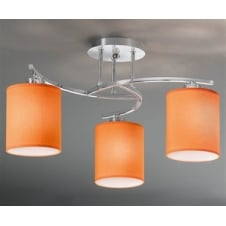 Vivace Chrome 3 Light Ceiling Fitting with Shades
