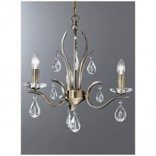 Willow Bronze 3 Light Ceiling Fitting