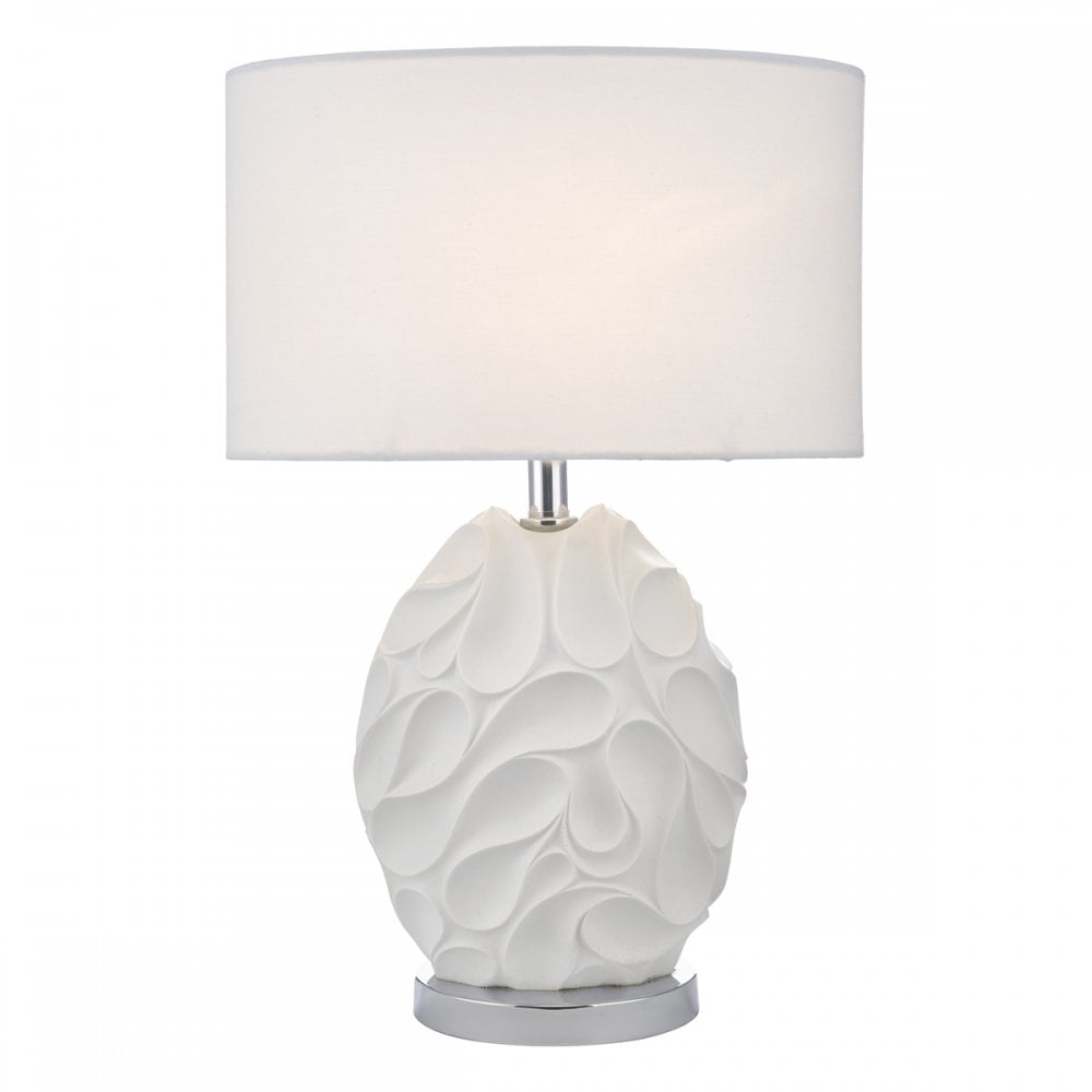 Crystal Table Lamp cw Oval Shade