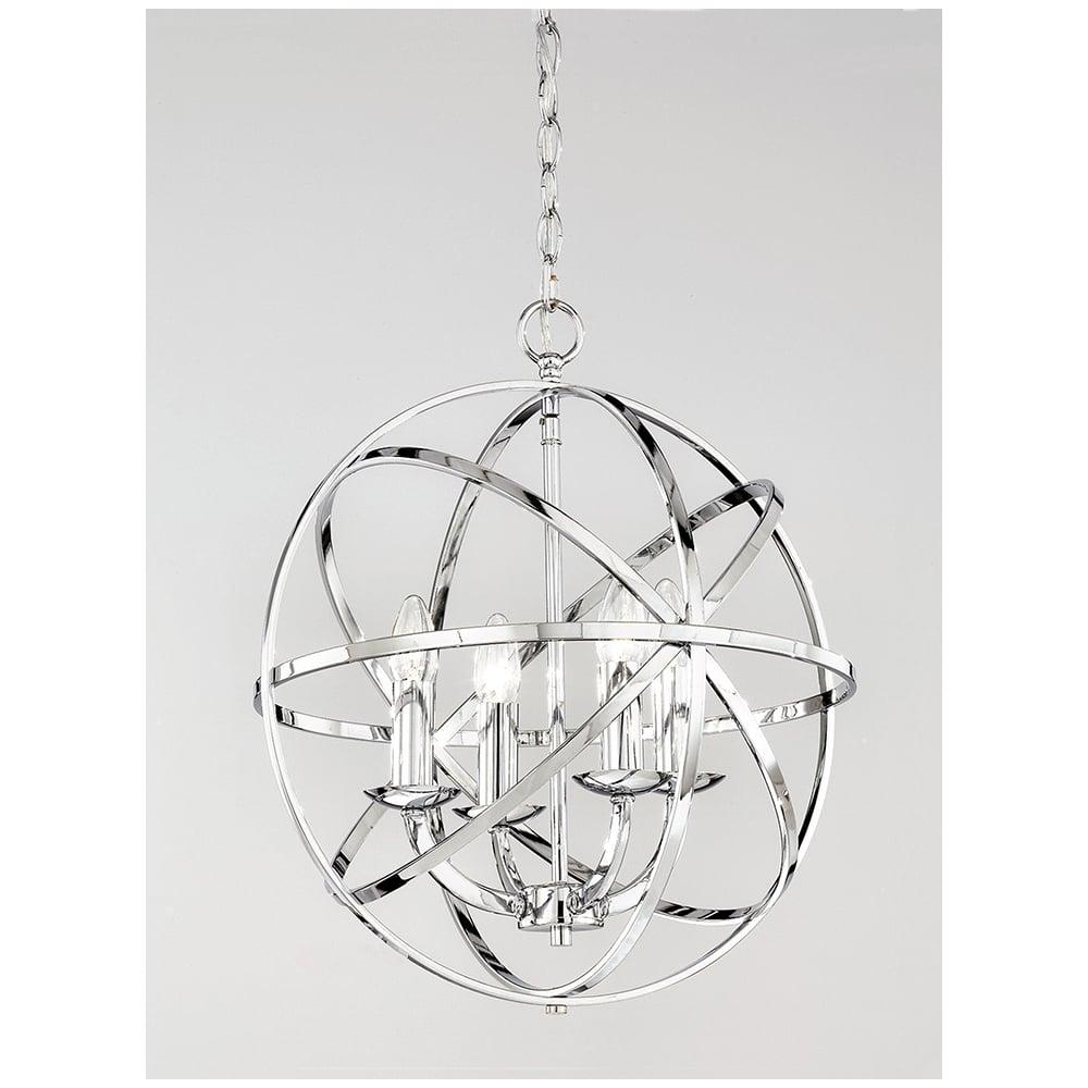Prestige Chrome 4 Light Ceiling Pendant